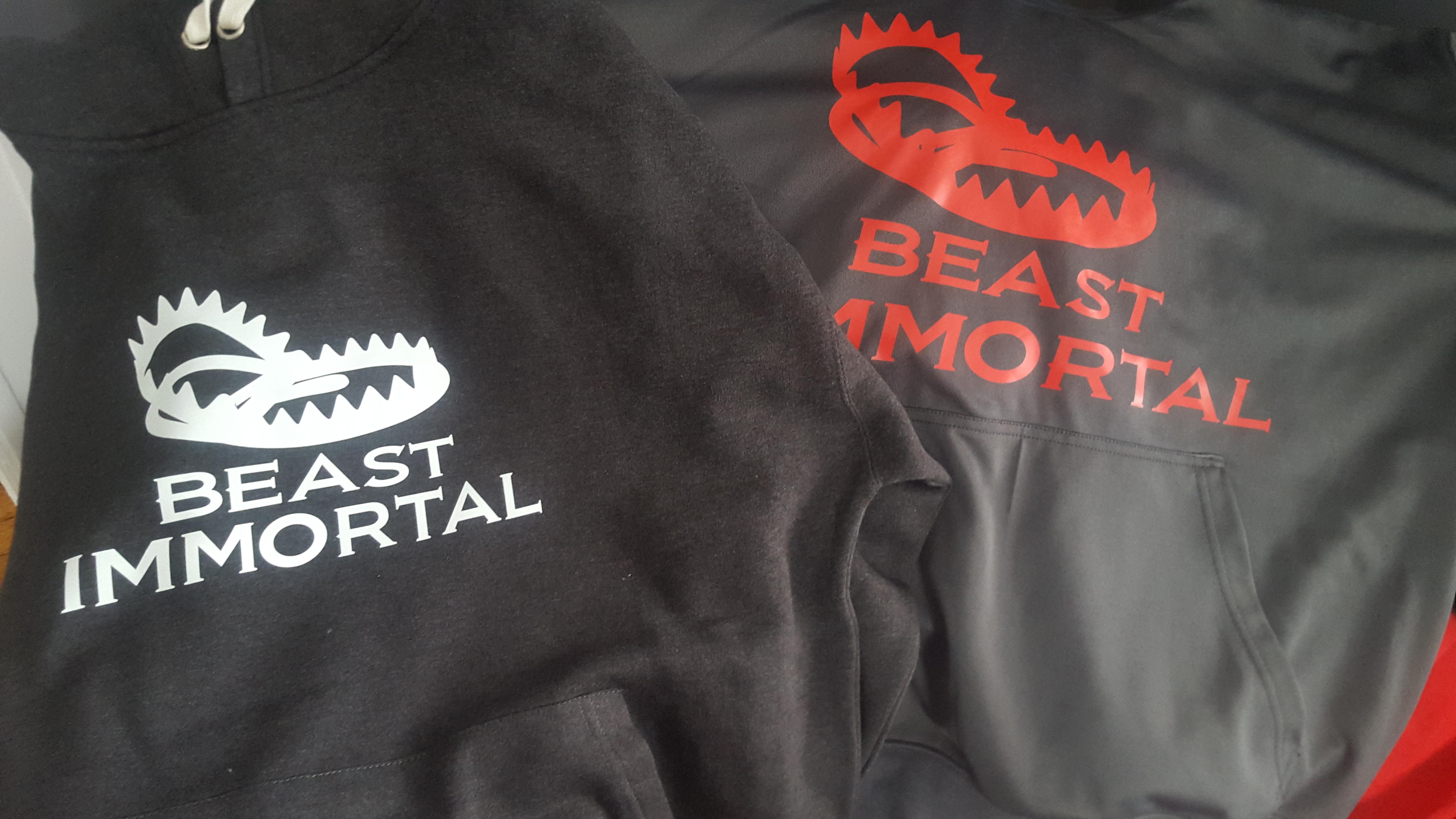 Beast Immortal gray performance hoodie 00014