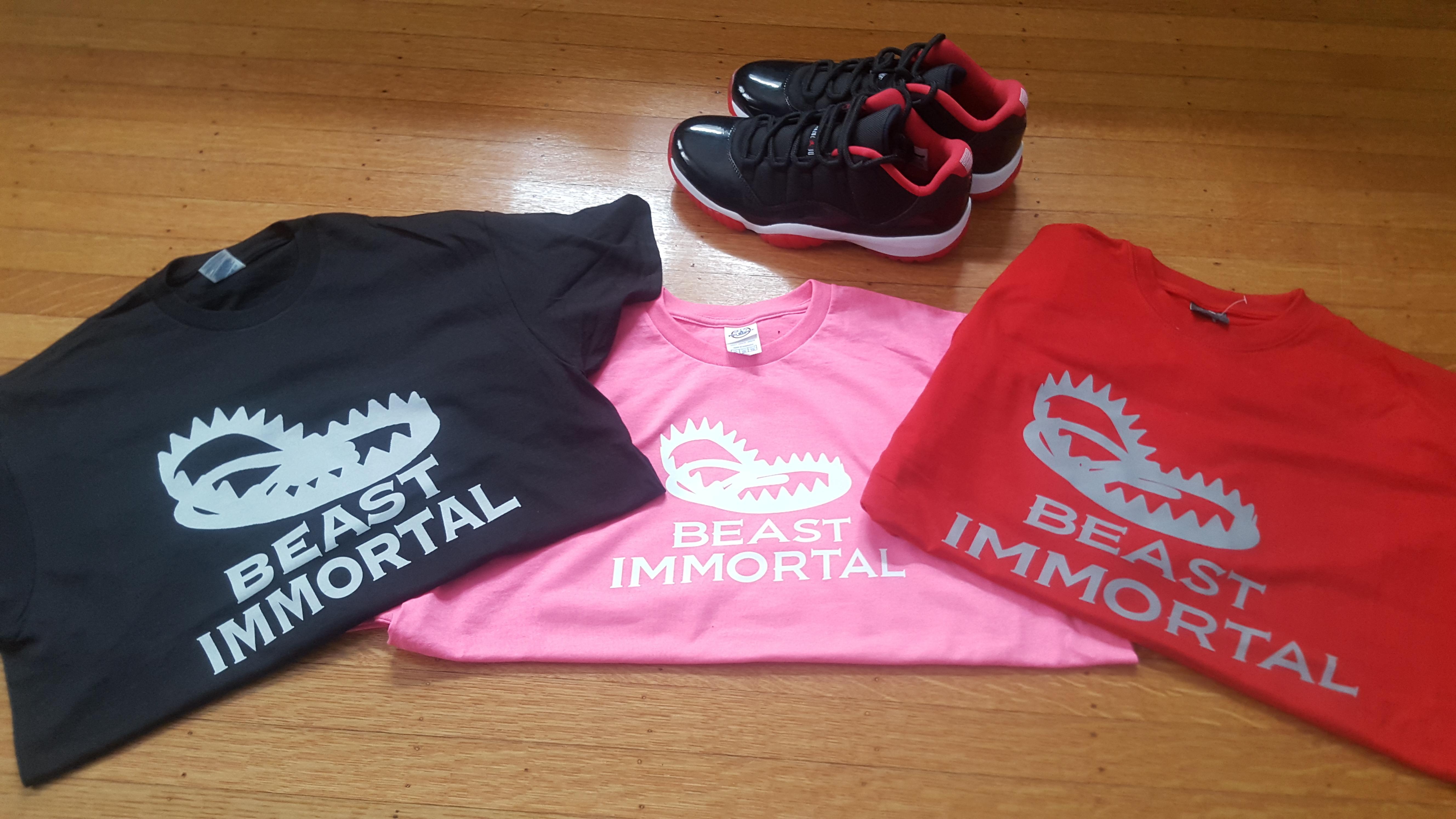 Beast Immortal pink t-shirt 0022