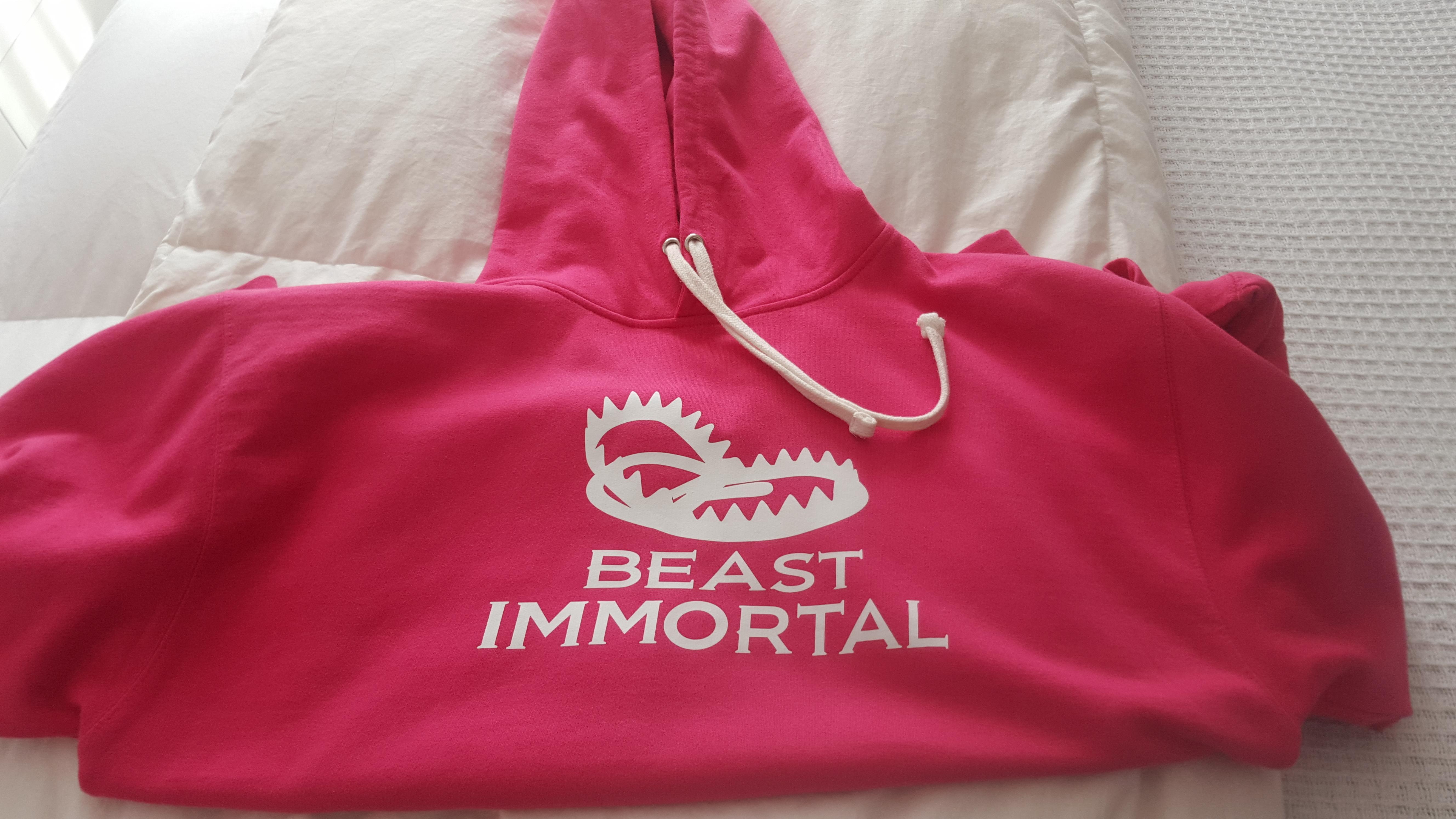 Beast Immortal pink trap hoodie 00020