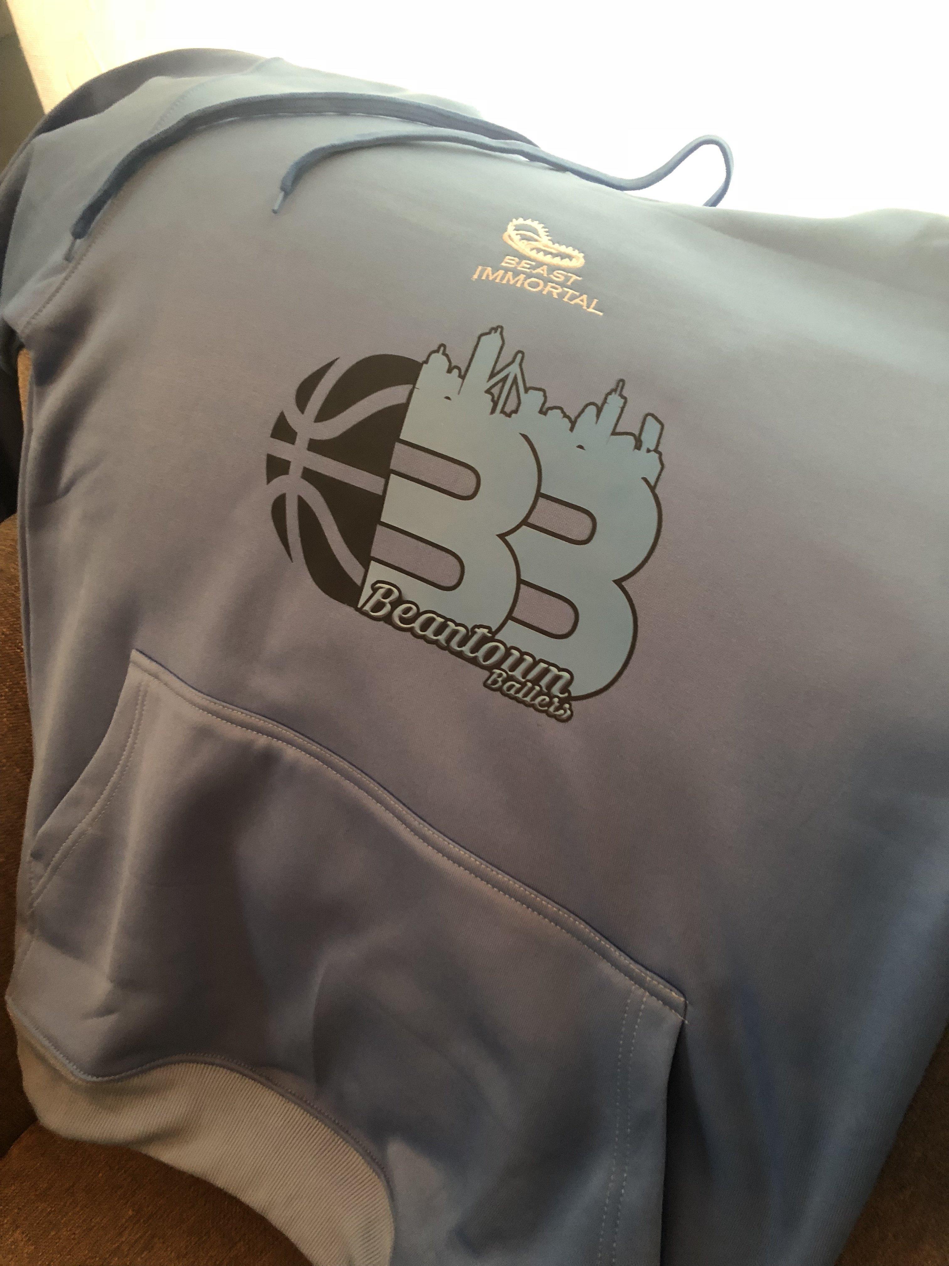 Beantown Ballers light blue dri-fit hoodie 00044