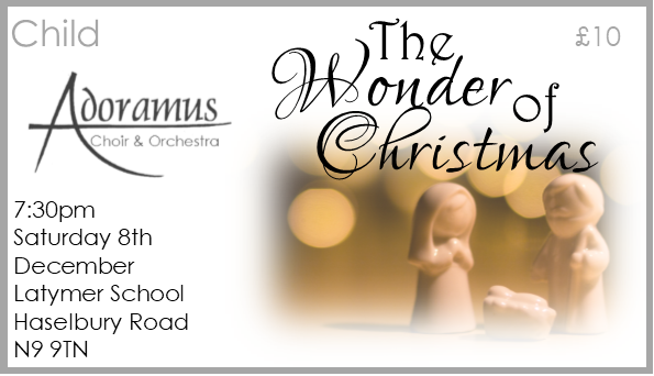 The Wonder of Christmas Concert CHILD (Max 16yrs) Seat 00019