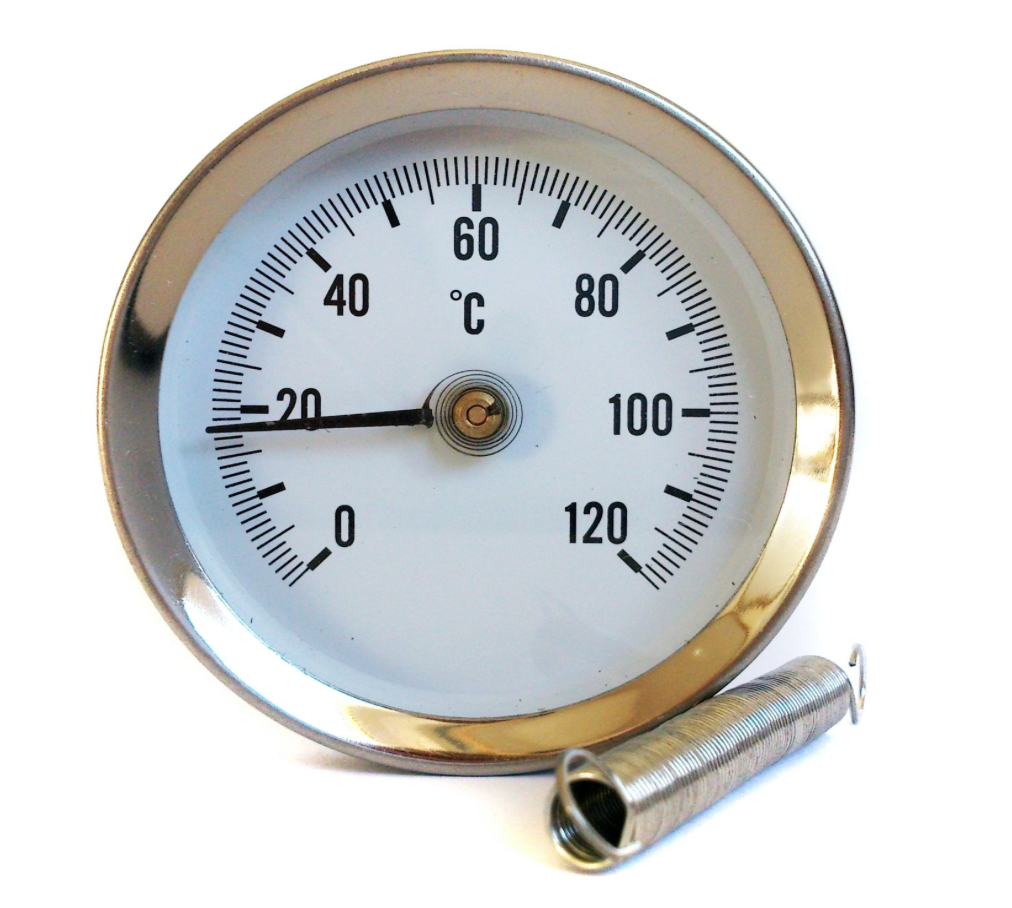 Hot Water Dial : Mm dial pipe thermometer clip on temperature gauge