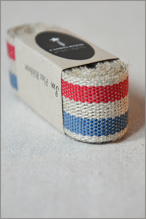 Almost French - Woven Flax Ribbon 01212