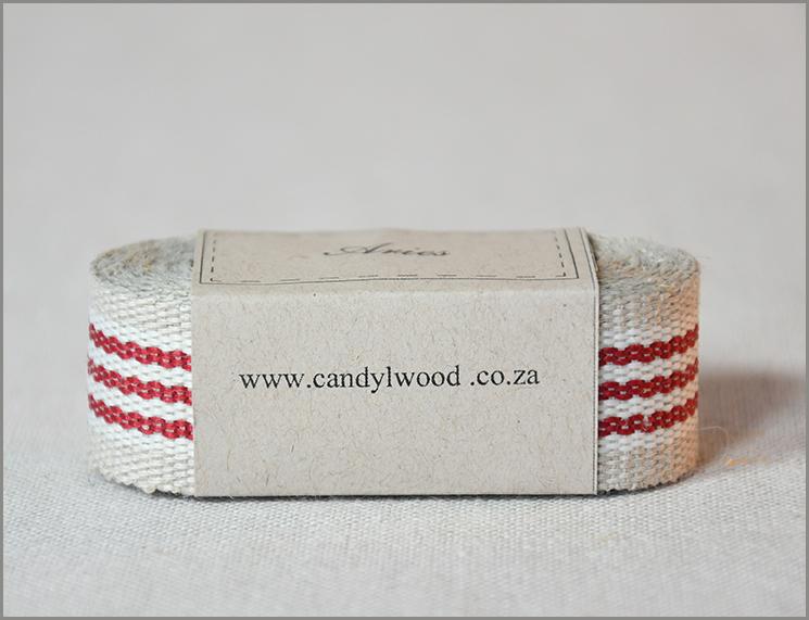 Aries - Woven Flax Ribbon