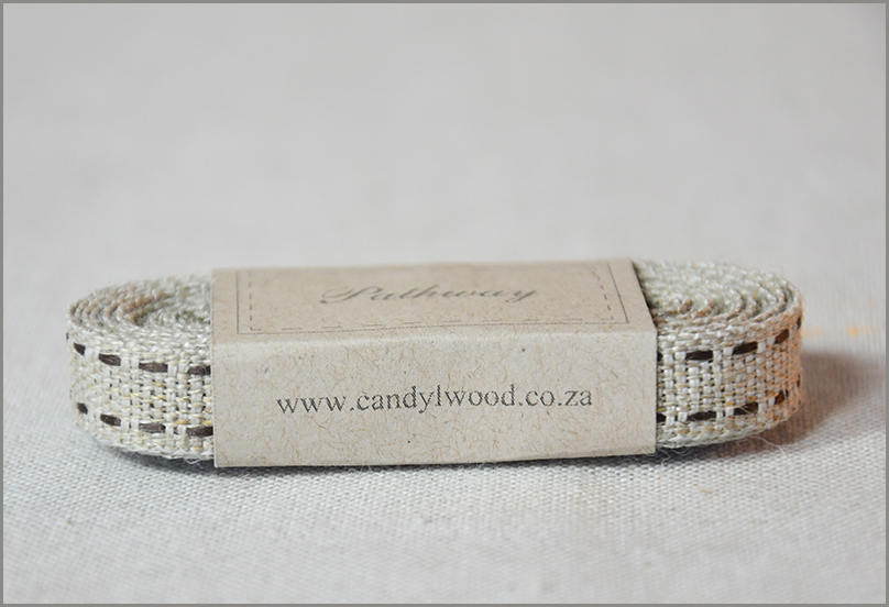 Pathway - Saddle-stitch Woven Flax Ribbon