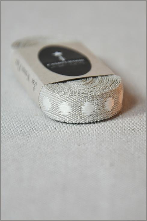 Cafe Latte - Woven Flax Ribbon 01184