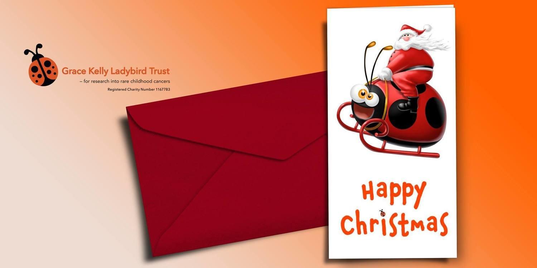 1 pack of ladybird santa christmas cards pack of 10 - Christmas Card Packs
