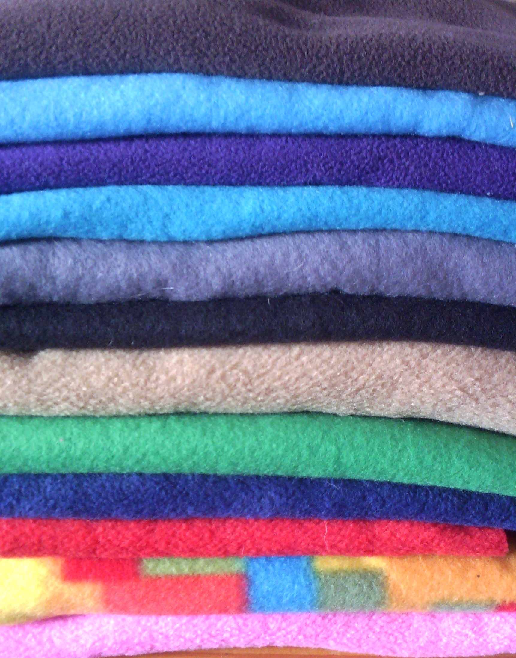 Actuele fleece kleuren