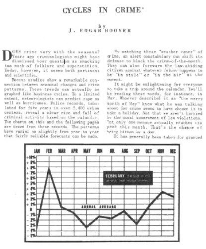 Cycles in Crime - J. Edgar Hoover - 1955 Reprint from Cycles Magazine