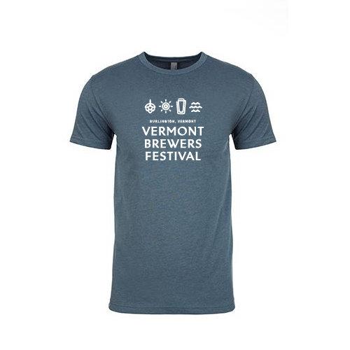 Vermont Brewers Festival 2017 T-Shirt Indigo 00006