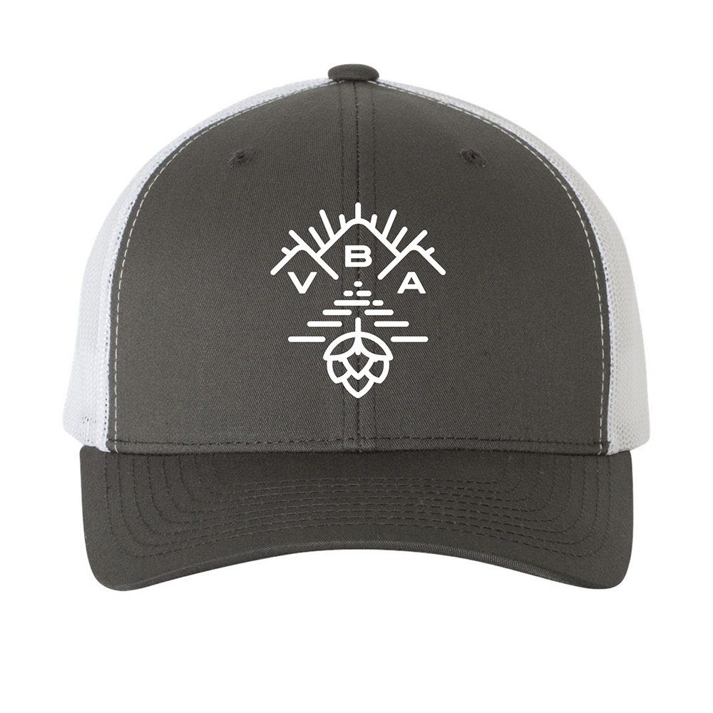 Gray and White Trucker Hat 00010