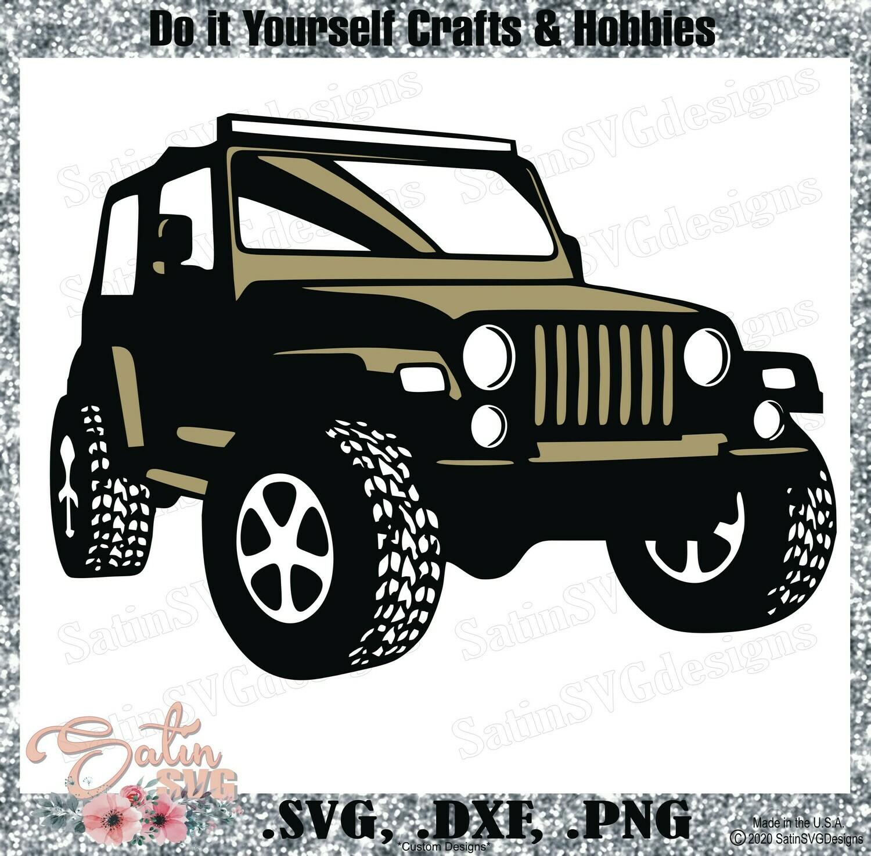 Download Jeep Side Off Road Design SVG Files, Cricut, Silhouette ...