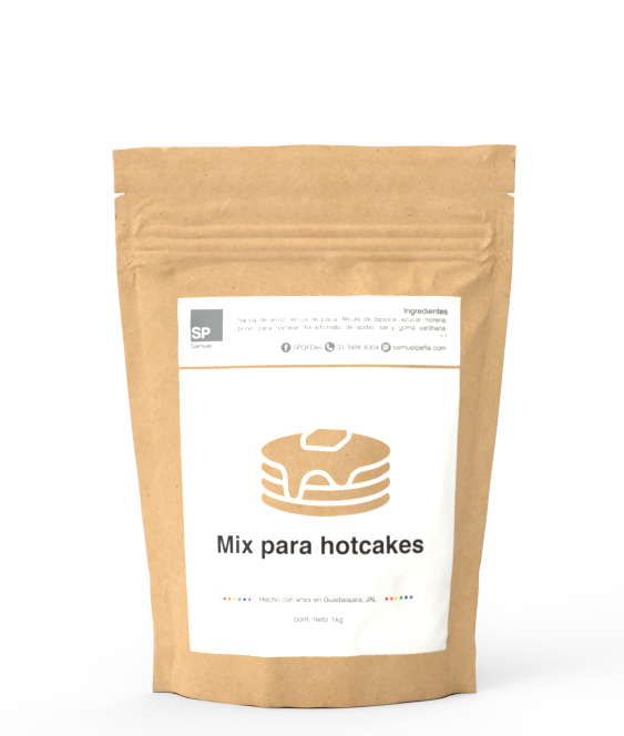 Mix para hotcakes sin gluten, 1kg 30002