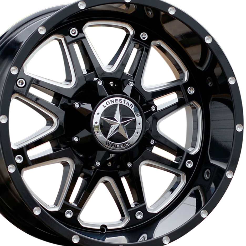 Lone Star Dodge >> 20×10 Gloss Black & Milled Outlaw Wheel, 6×5.5(139.7mm) & 6x135mm – WHEELS COLLECTIONS ...