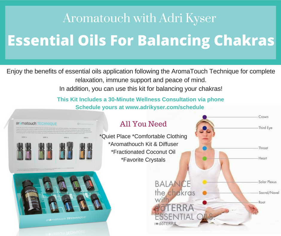 AromaTouch Kit with Diffuser ~ Balancing Chakras Kit 00012