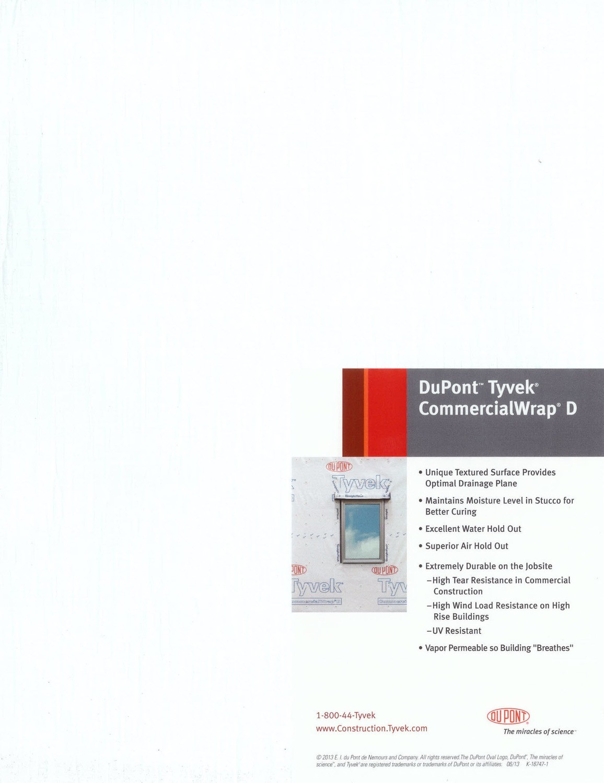 K16747 Dupont Tyvek Commercialwrap D Product Sample