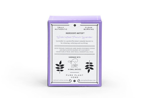 Back Wildcrafted French Lavender Coconut Wax