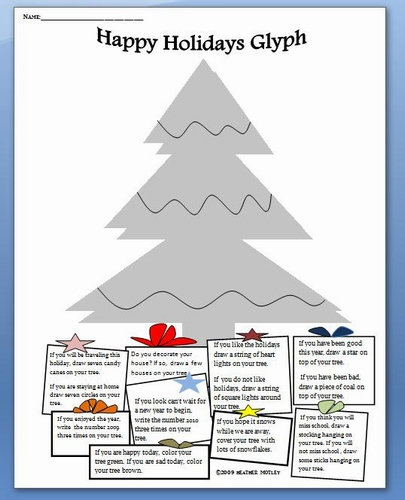 - Holiday: Math: Christmas Tree Glyph
