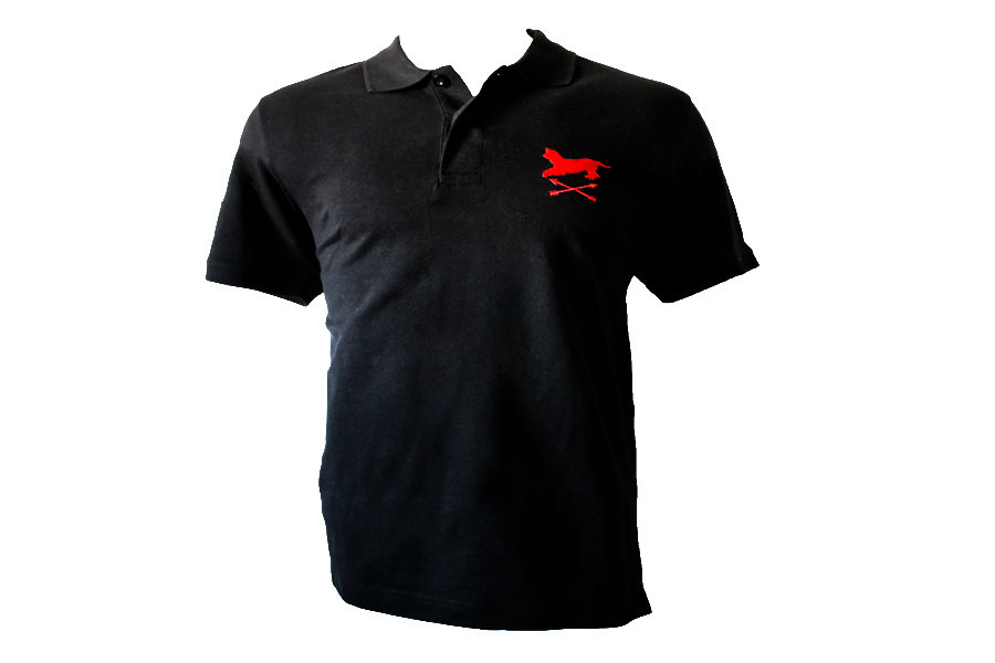 Polo negro bordado Alano&Flechas 00014