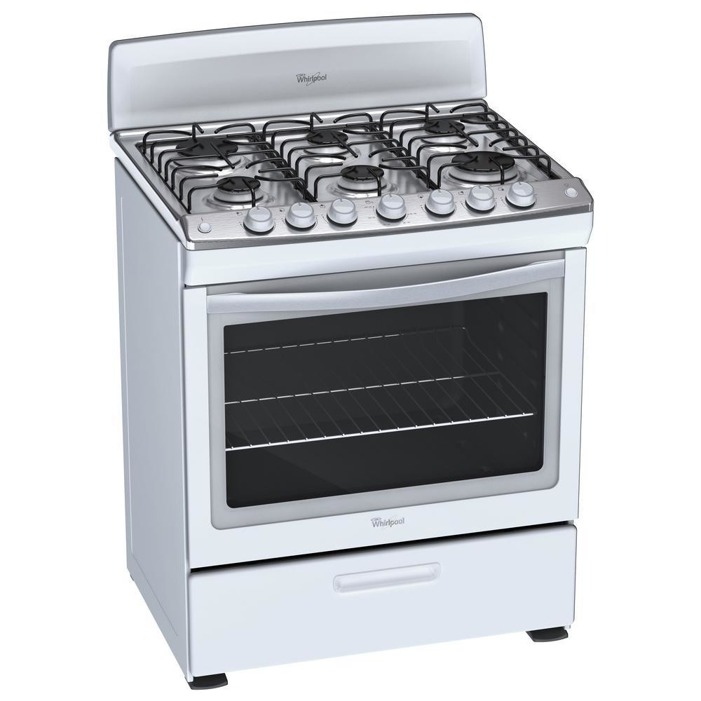 Cocina de gas whirlpool 30 5 1 cu ft self cleaning for Encendido electronico cocina whirlpool