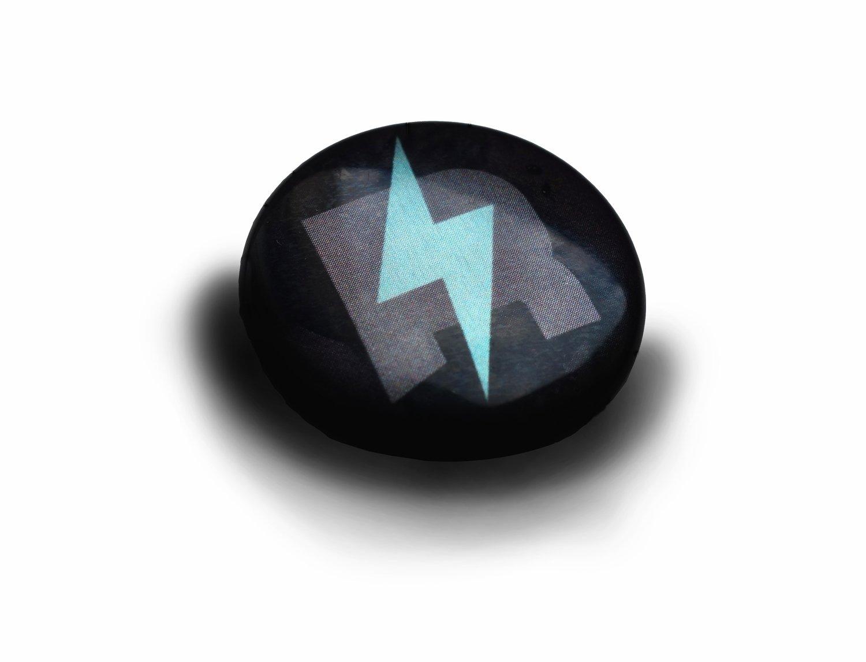 Metallic Button rAmoNa RocKs Logo Monogram Ø 30 mm