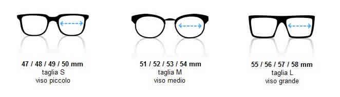 calibro occhiali montature