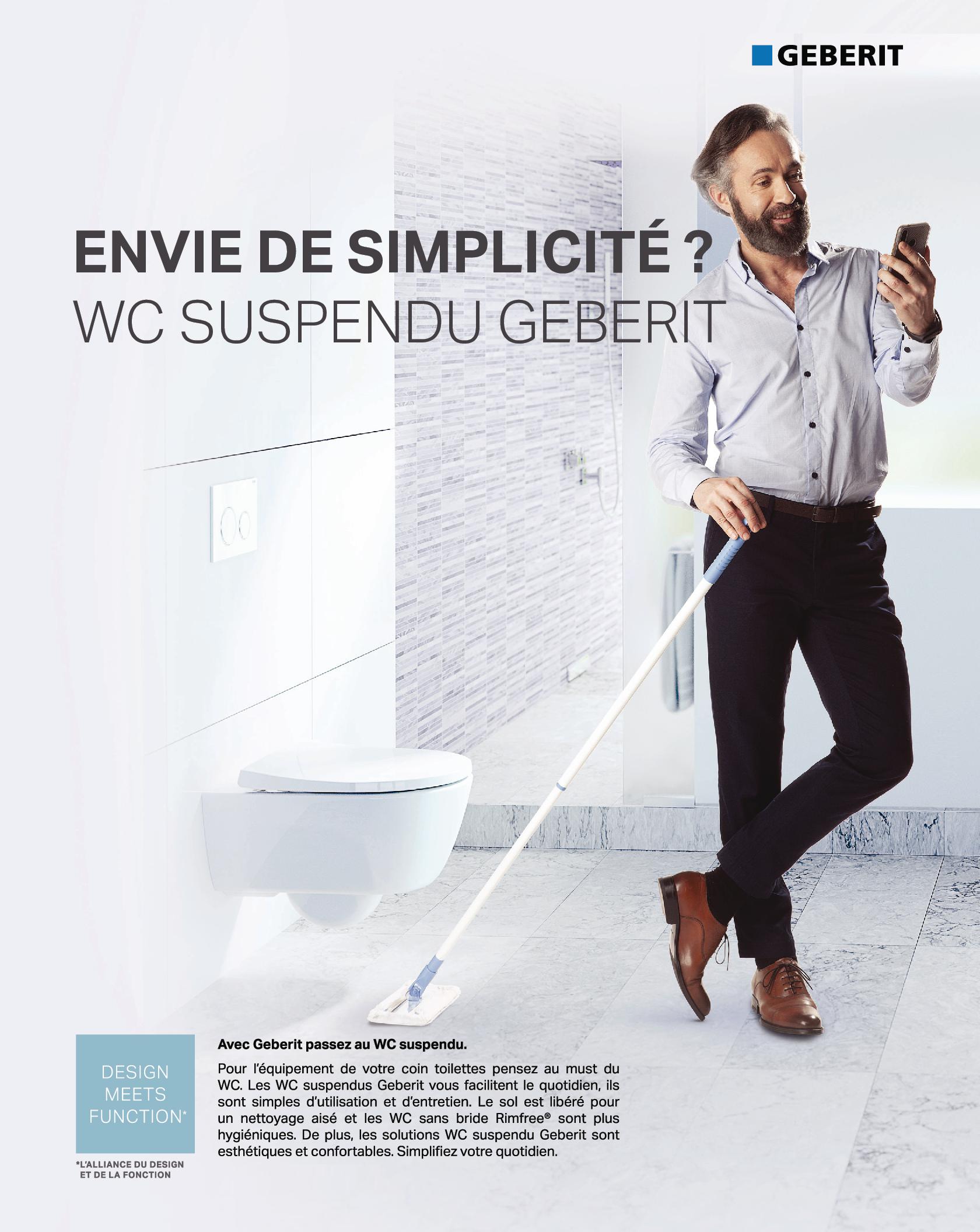 WC Tunisie / Cuvette suspendue Tunisie / Geberit Tunisie / Salle de bains Tunisie