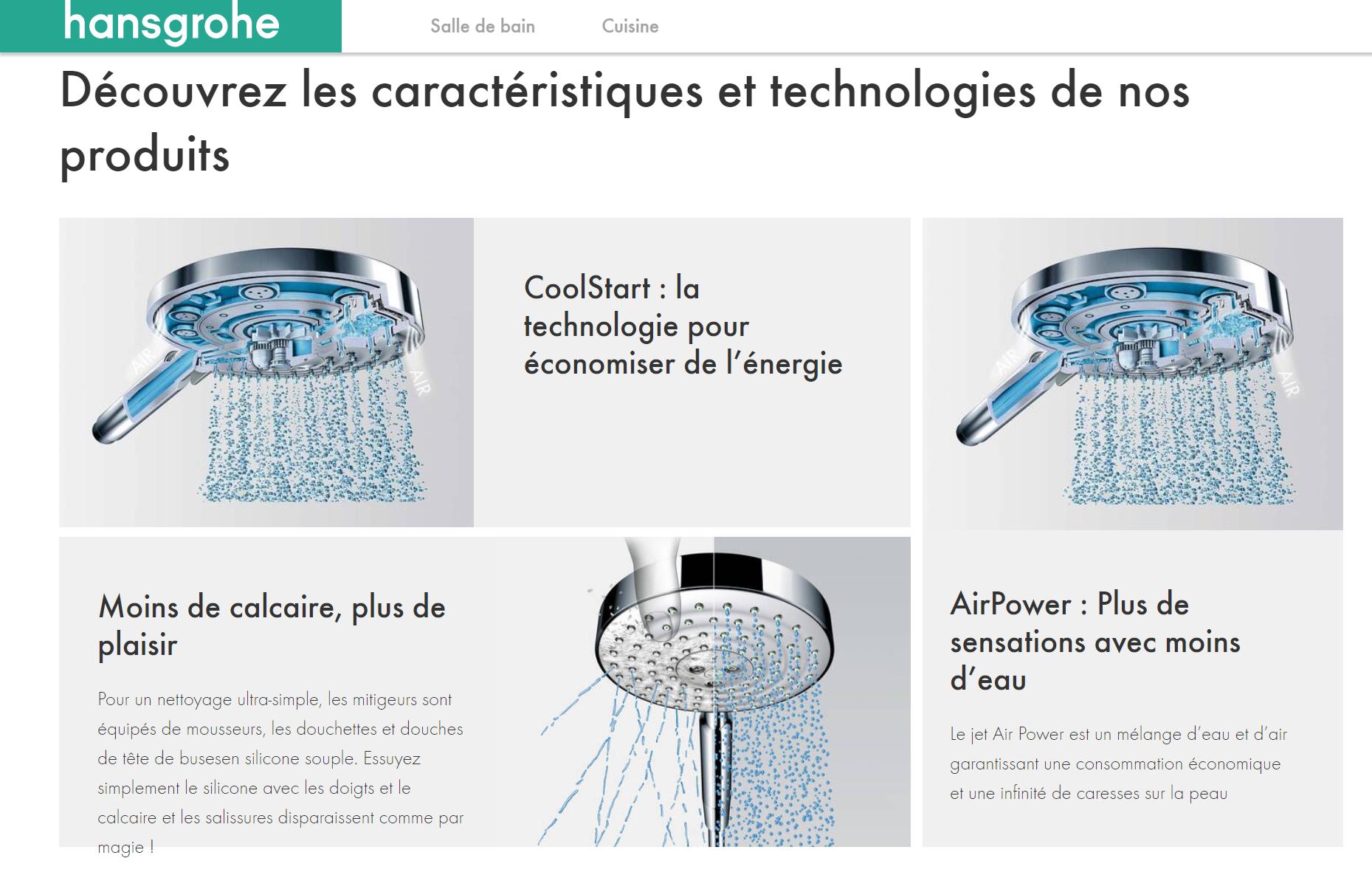 Sanitaire Tunisie - Lavabo Tunisie - Salle de bain Tunisie - Baignoire Tunisie - Toilette Tunisie - Technologies Hansgrohe