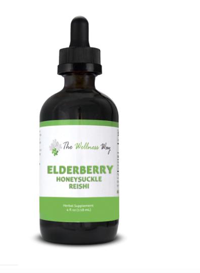 Elderberry, Honeysuckle, Reishi Mushroom