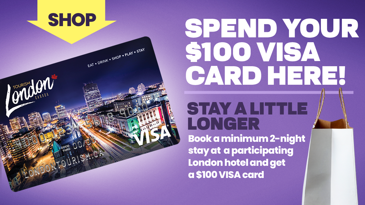Stay a Little Longer and get a $100 Visa Card