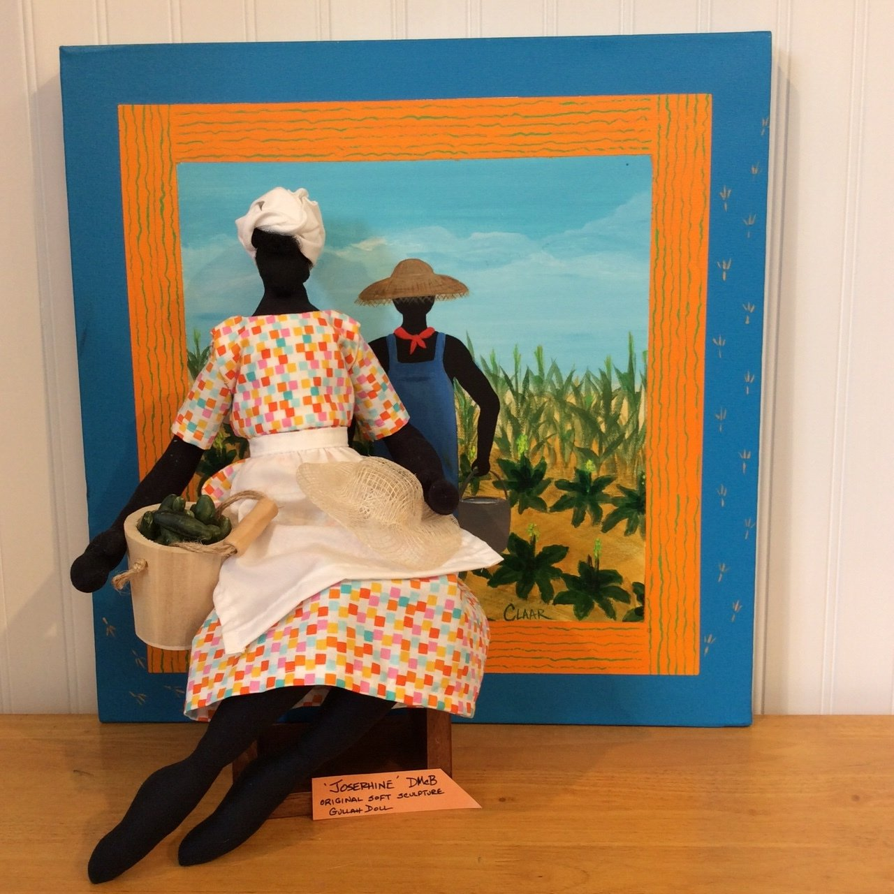 DMcB original soft sculpture Gullah Dolls