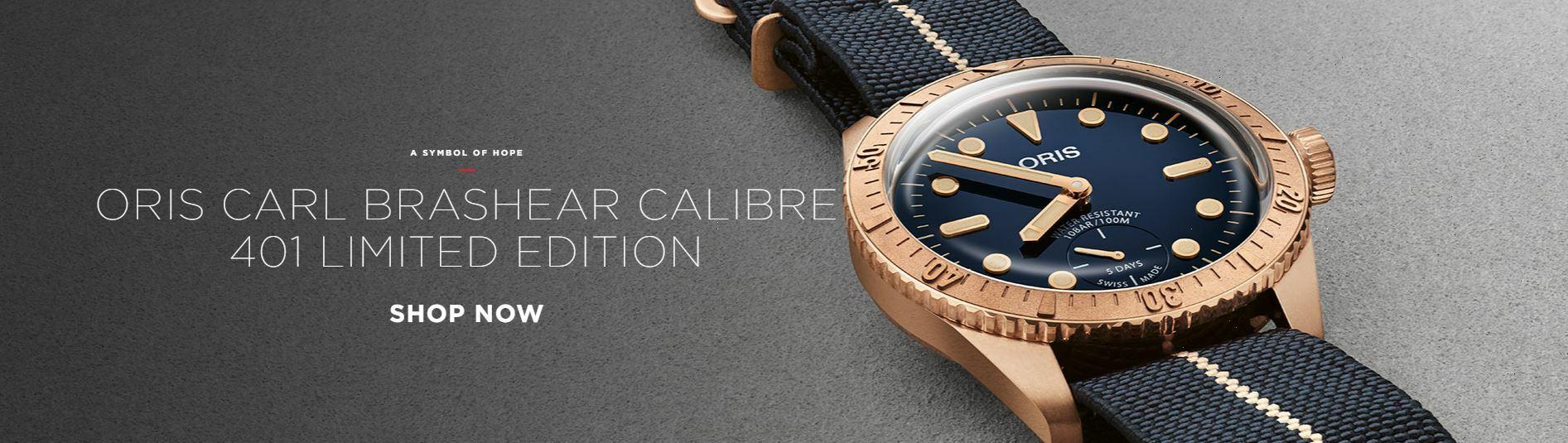 Oris Carl Brashear Calibre 401 Limited Edition Blue Dial 40MM Automatic 01 401 7764 3185-Set