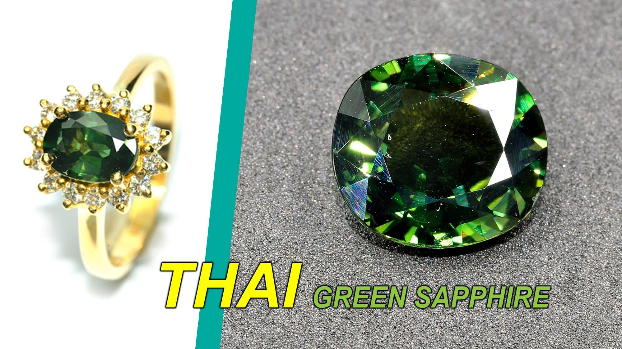 Thai green sapphire