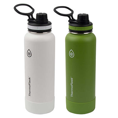 Takeya ThermoFlask 40 oz Actives 2 Pack Bundle With Spout Lid