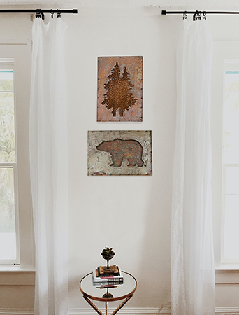 Tree Art, Bear Art, Rustic Bear Decor, Rustic Tree Decor, bear decor, tree decor