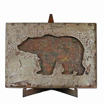 Bear Art, Rustic Bear Decor, bear decor