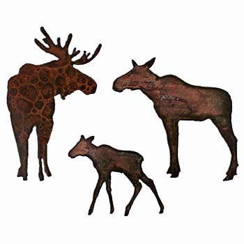 Moose magnets, fridge magnets, rustic magnets, magnets, wildlife magnets