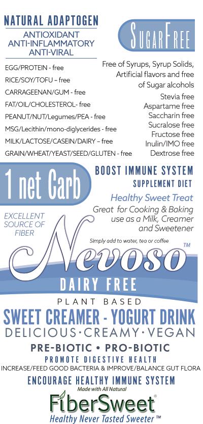 SWEET Creamer - YOGURT Drink Sugar/Dairy-Free VEGAN KETO