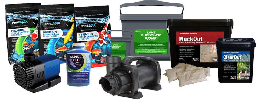 New Pond Products -Pumps, Koi Food, Pond Treatments