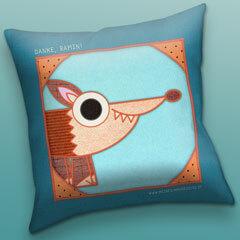 Patchwork Pals pillow