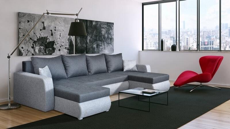 Luxurious corner sofa bed u-shape - TORNADO