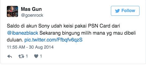 Saldo di akun Sony udah keisi pakai PSN Card dari @ibanezblack Sekarang bingung milih mana yg mau dibeli duluan