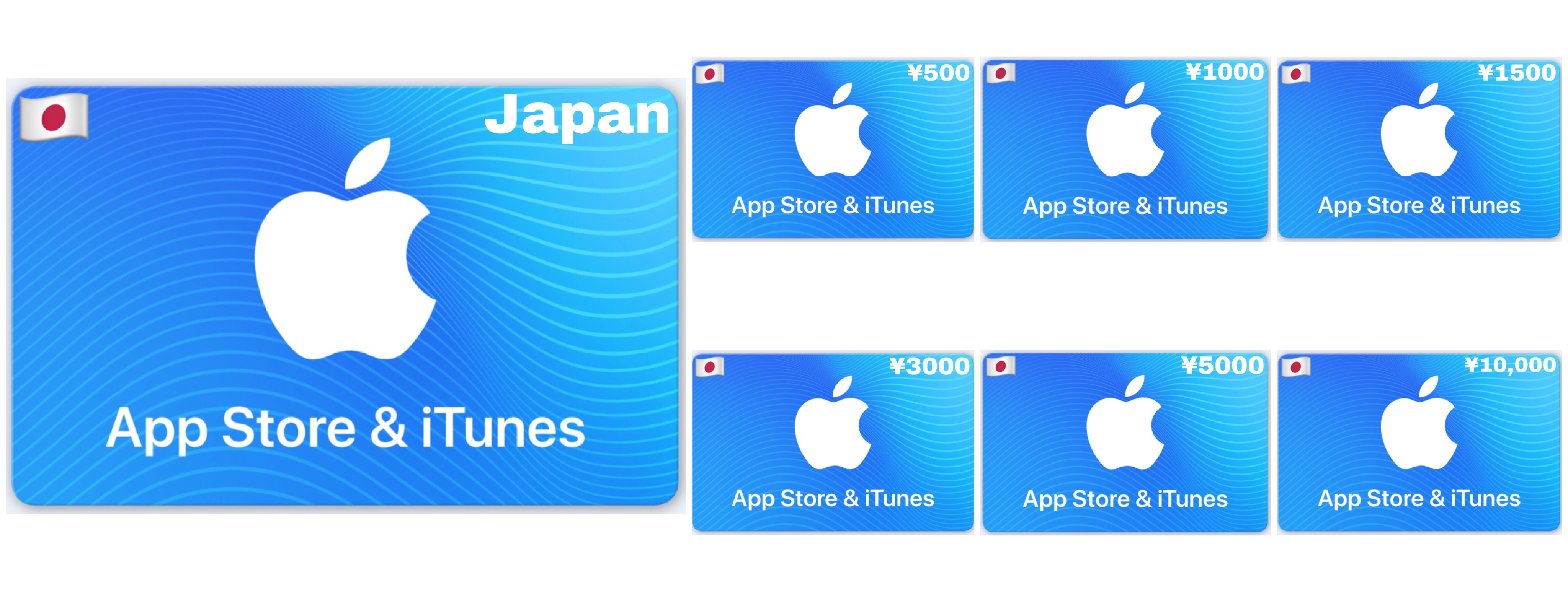 Apple App Store & iTunes Gift Card Japan ¥500 ¥1000 ¥1500 ¥3000 ¥5000 ¥10000