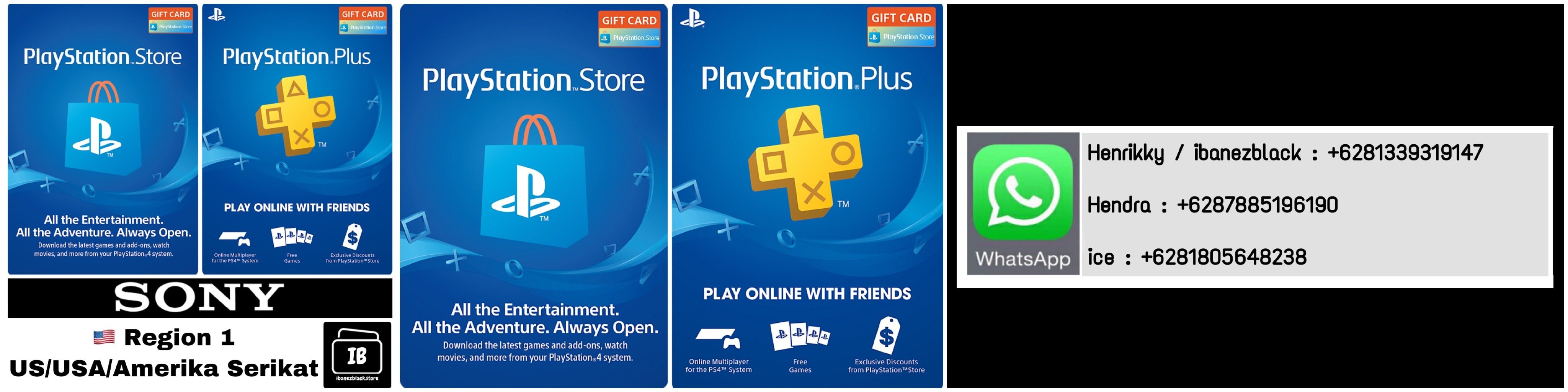 Playstation Store Gift Card (PSN Card) / Playstation Plus (PSN Plus) US