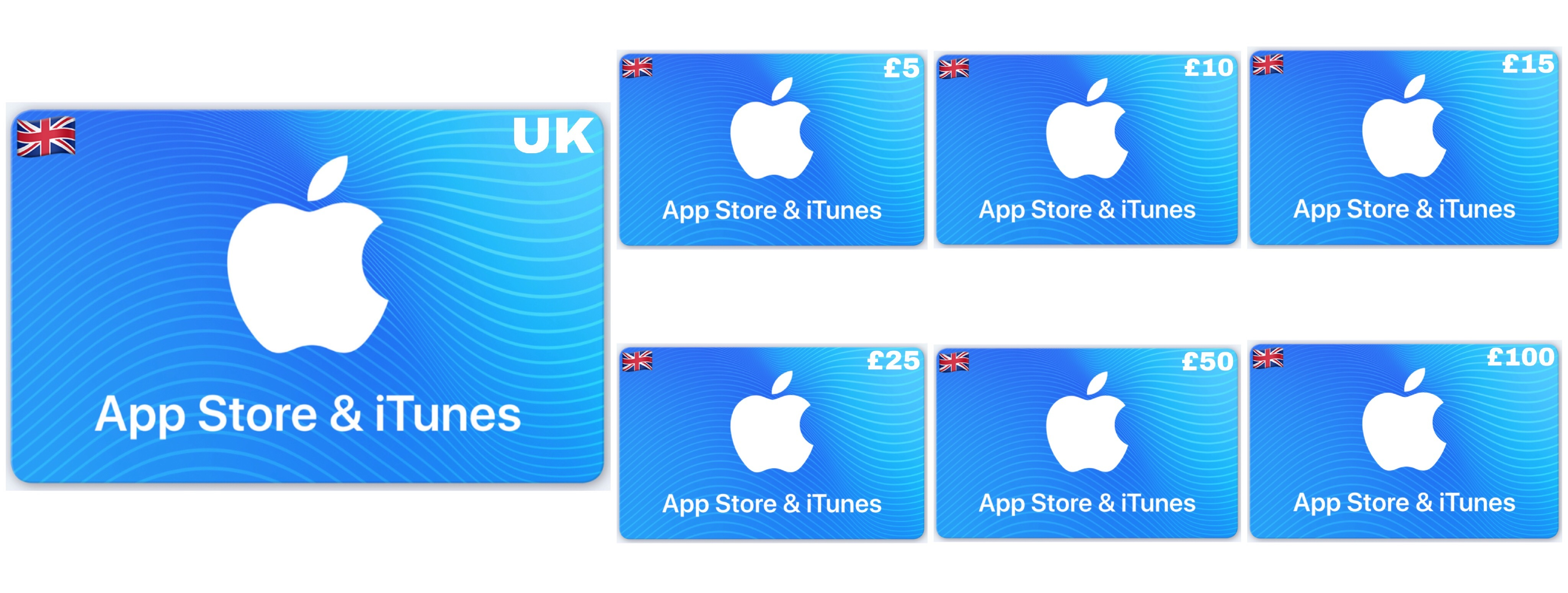 Apple App Store & iTunes Gift Card UK £10 £15 £25 £50 £100