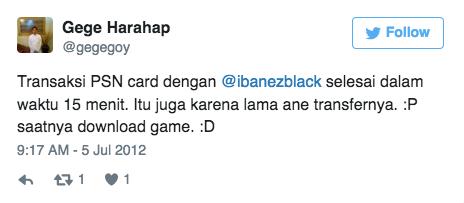 Transaksi PSN card dengan @ibanezblack selesai dalam waktu 15 menit. Itu juga karena lama ane transfernya. :P saatnya download game. :D