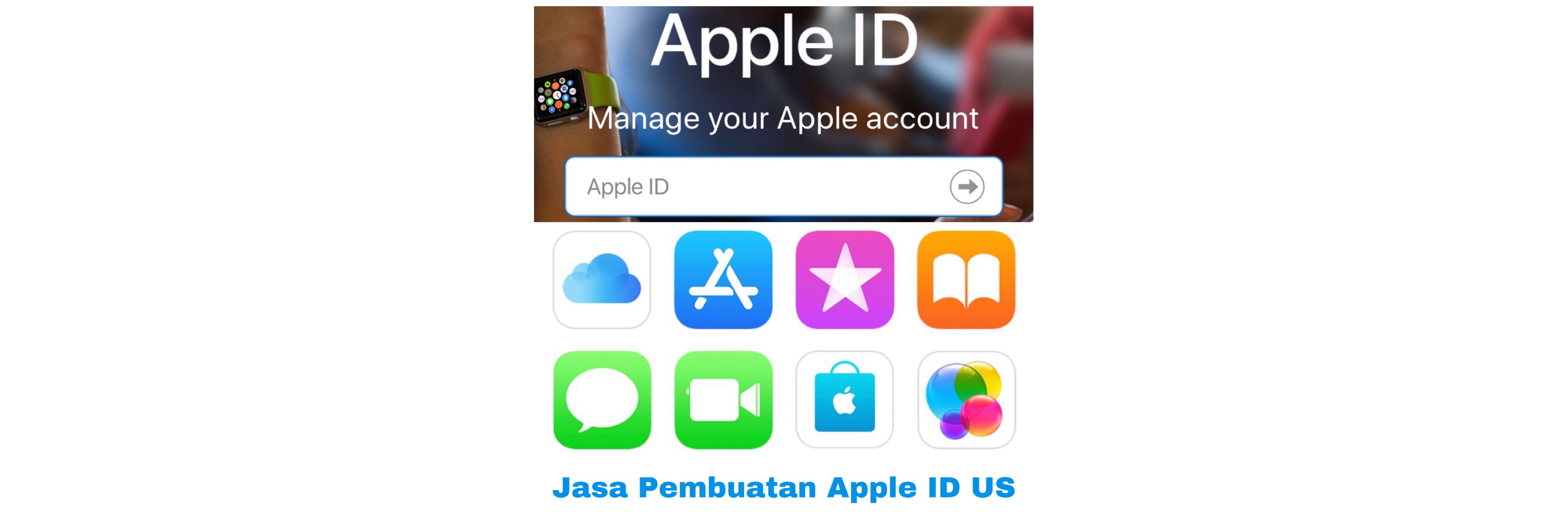 Jasa Create Apple ID region US/USA/Amerika
