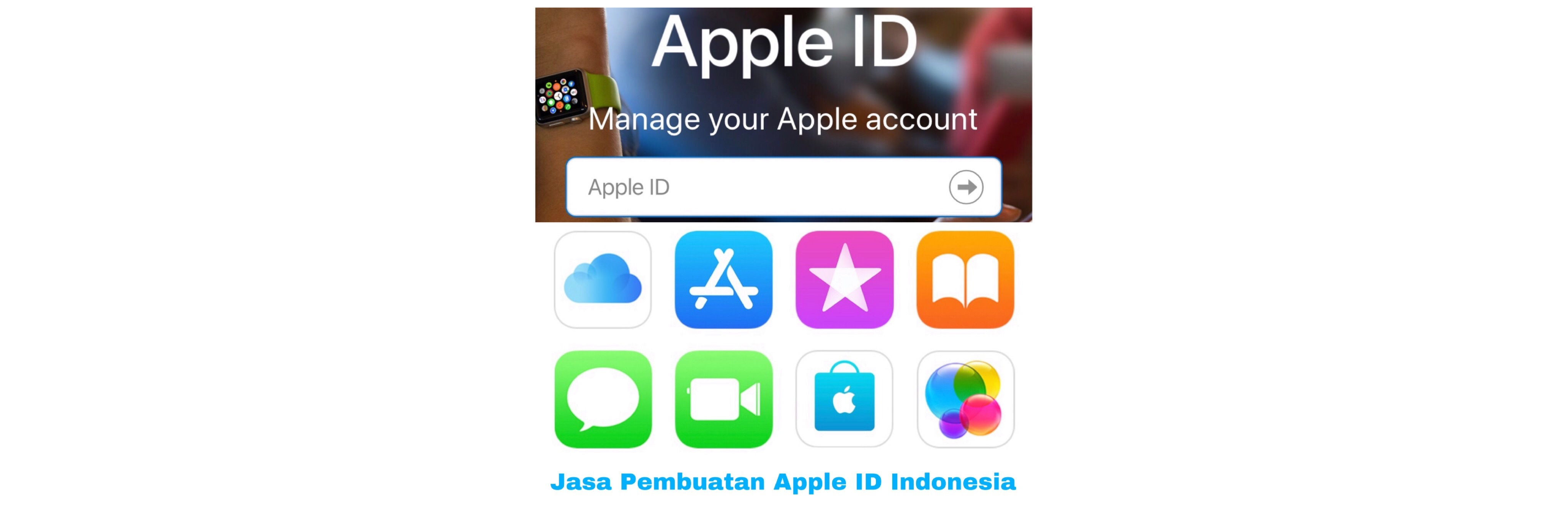 Jasa Create Apple ID region Indonesia