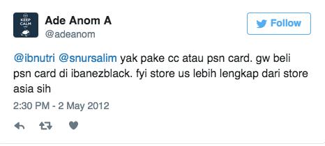 @ibnutri @snursalim yak pake cc atau psn card. gw beli psn card di ibanezblack. fyi store us lebih lengkap dari store asia sih