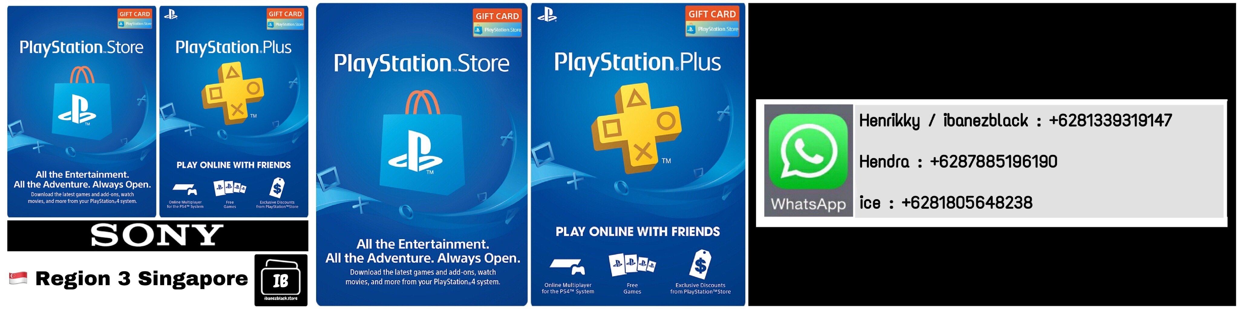 Playstation Store Gift Card (PSN Card) / Playstation Plus (PSN Plus) Singapore